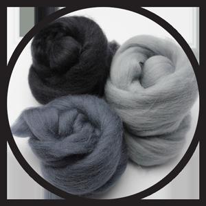 Wool Batts, Roving & Fibres